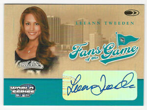Leeann Tweeden 2004 Donruss World Series Fans of the Game Autograph Card Marlins
