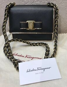 Salvatore Ferragamo Ginny Leather Shoulder Bag Reduced$$$