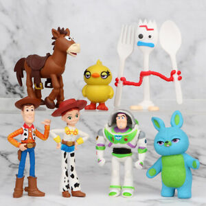 Toy Story Buzz Lightyear Woody Bulleye 7 PCS Action Figure Cake Topper Gift Toy