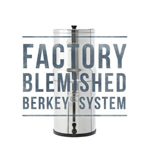Blemished Berkey Water Filter Systems - Travel, Big, Royal, Imperial, Crown, Go