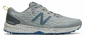 New Balance Men#x27;s NITREL v3 Trail Shoes Grey with Blue
