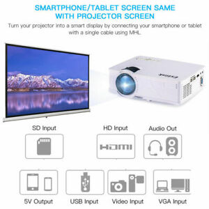 Upgraded LED Projector Multimedia Home Theater Support 800 x 480 TF Card AV