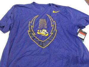 NWT Nike dri fit T Athletic Cut men's M L XL purple polyester LSU