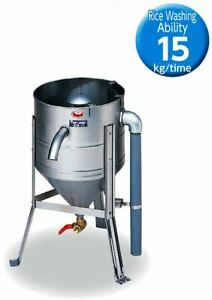 New Water Pressure Rice Washer Easy Cleaner machine Made in Japan ability 15kg