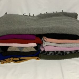 Lot of 14 100% Cashmere Blanket Sweaters XL XXL 7 lbs Cutter Craft Upcycle Repur