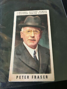 1950 British War Leaders Lingford's Powder Peter Fraser #16 Collectible Card