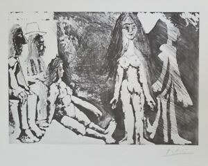 Pablo PICASSO  347 Series + Original 1968 Lithograph + Plate Signed and Numbered