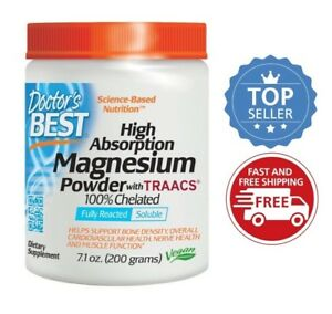 Doctor's Best High Absorption Magnesium Powder, 7.1 oz 200 g