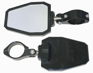ModQuad 1.875 in. Black Powder Coated Aluminum Bezel Side Mirror SIDE-X3-BLK