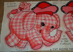PINK ELEPHANT PANEL TO SEW AND STUFF!