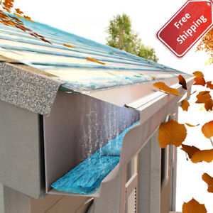 DIY 5quot; Stainless Steel Gutter Guard Filter 24#x27; Metal Mesh Roof Grits Rain Leaf $83.95