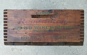 Vintage Remington Arms Company Wood Crate for .30-30 Cartridges