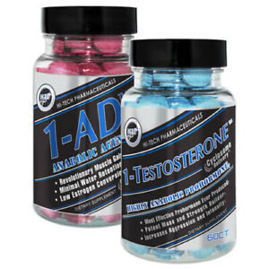 HI-TECH PHARMACEUTICALS 1-TESTOSTERONE + 1-AD STACK (60 TABLETS EACH) 1 test ad
