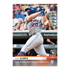 2019 Topps NOW 524 Pete Alonso RC New York Mets [7.16.19]