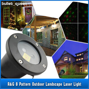 8 Patterns Outdoor Projector Laser LED Garden Christmas Stage Light Waterproof $23.99