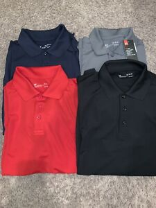 NWT Men's Under Armour Polo Golf Shirt Gray Black Red Blue M L XL MSRP $50
