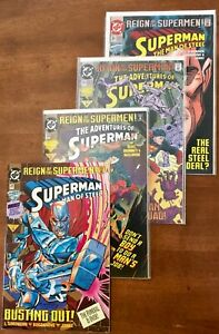 SUPERMAN...REIGN OF THE SUPERMEN. 22 ..NM...#25..NM...ADV OF...#503