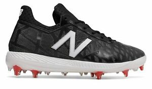 New Balance Low Cut COMPv1 TPU Baseball Cleat Mens Shoes Black with White amp; Red $19.99
