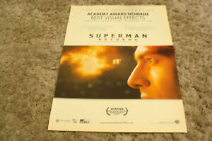 SUPERMAN RETURNS Oscar ad bullet in slo mo, Best Visual Effects, Brandon Routh