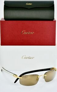 Cartier White Natural Horn Sun Glasses New