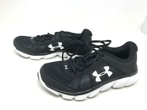 Womens Under Armour 3020674 001 Micro G Assert 7 Black White shoes 421F G $41.99
