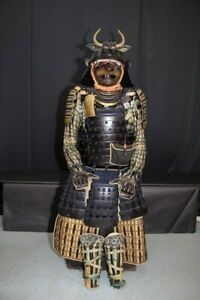 (IX-62) 36KEN SUJI KABUTO YOROI set with SANGU same Cloth design Edo