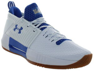 Under Armour Men's Drive 4 Low Lace Up Basketball Shoes White Blue $41.99