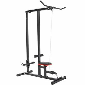 Home Gym Body Lat Pull down Machine Low Row Bar Cable Fitness Weigh Training $179.95