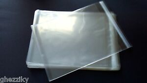 100 Clear Cello Bags 6 x 9quot; Resealable Cellophane OPP Poly Sleeves packing mask