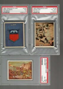 3 PSA Graded Freedom's War Cards (1950-1) #'s 65, 105, 180