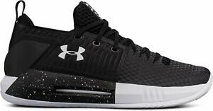 Under Armour Men's Drive 4 Low Lace Up Basketball Shoes Black White $41.99