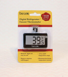 Taylor Digital Refrigerator and Freezer Thermometer New