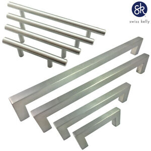 Swiss Kelly Hardware Hollow Stainless Steel Kitchen Cabinet Handles Drawer Pulls