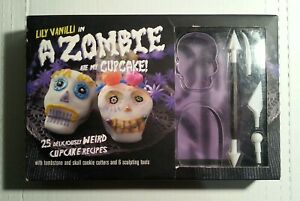 Zombie Cupcake Kit Set Book and Tools Recipes Cookie Cutters Halloween Fun Gift