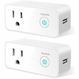 Smart Plug Wifi Outlet Switches USB Mini Socket Compatible With Alexa, Google 2