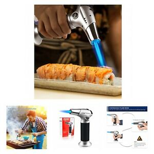 Blow Torch Lighter Refillable Kitchen Torch with Safety Lock & Adjustable Flame
