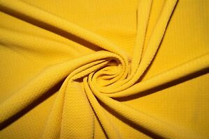Yellow Mustard #118 Bullet Double Knit Stretch Poly Lycra Spandex Fabric BTY