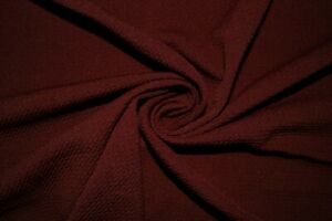 Maroon #120 Bullet Double Knit Stretch Poly Lycra Spandex Fabric BTY