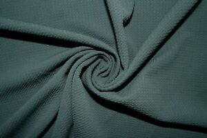 Charcoal #147 Bullet Double Knit Stretch Poly Lycra Spandex Fabric BTY