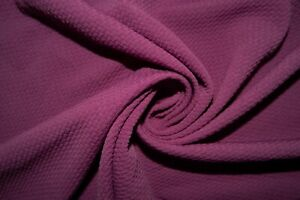 Magenta #149 Bullet Double Knit Stretch Poly Lycra Spandex Fabric BTY