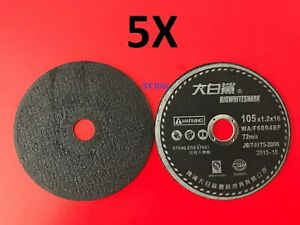 5x Cutting Wheel Disc For Angle Disc Grinder Cut off Stainless Steel Metal