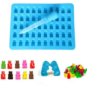 50 Cavity Silicone Gummy Bear Chocolate Mould Candy Maker Ice Tray Jelly Durable