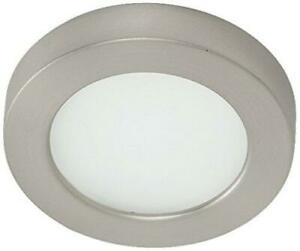Wac Edge Lit LED Button Light 3000K Soft White Brushed Nickel Hr-led90-30-bn - A