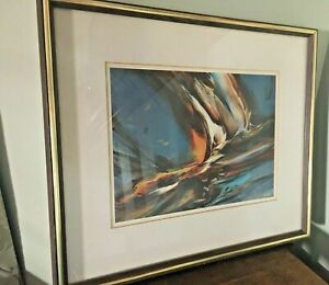 Leonardo Nierman Limited Edition Lithograph  Abstract Signed ~