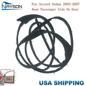 Door Opening Weatherstripping Seal Rubber Strip Rear Right for ACCORD 2003 2007 $26.12