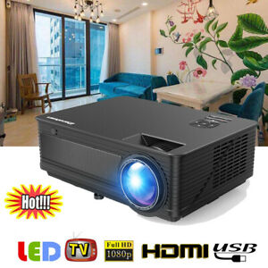 7000Lumens Full HD LED LCD Projector Multimedia Home Video Theater HDMI 1280*800
