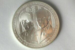 2013 Generals US Army Command Fort Leavenworth Dollar Silver Commem - Proof