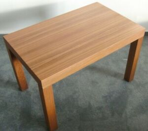 Vintage 60s Sidetable Teak Side Table Minimalist Scandinavian Design Walnut Wood