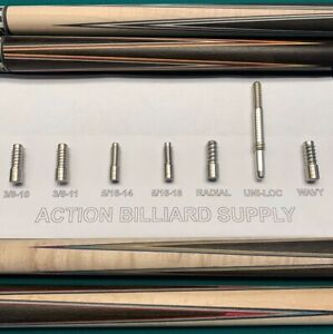 6 PIECE MAINTENANCE PIN ARBOR SET FOR POOL CUE BUILDING  LATHE - DRILL FREE SHIP
