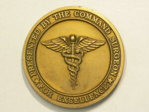 🍁 Challenge Coin US Joint Forces Command Surgeon 50mm  #7829